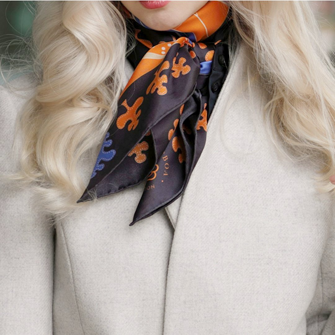 Tropical Wild Navy Scarf