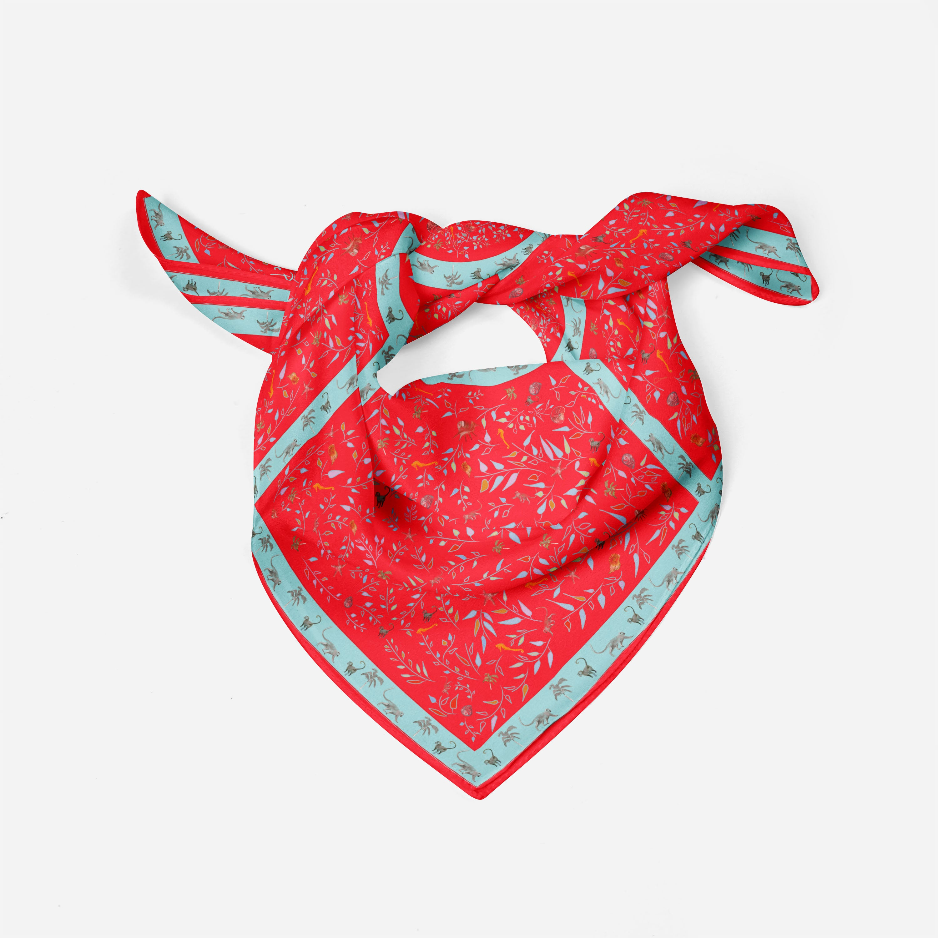 Caribbean Red Scarf