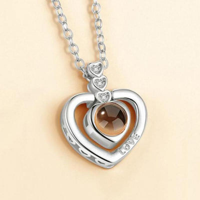 100 Love Language Heart Necklace