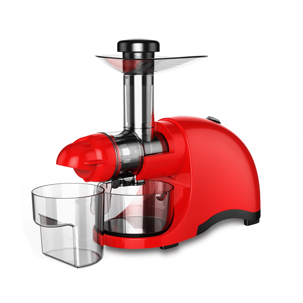 Greenis F-9600 Horizontal Masticating Juicer (Red) - Caynel Direct