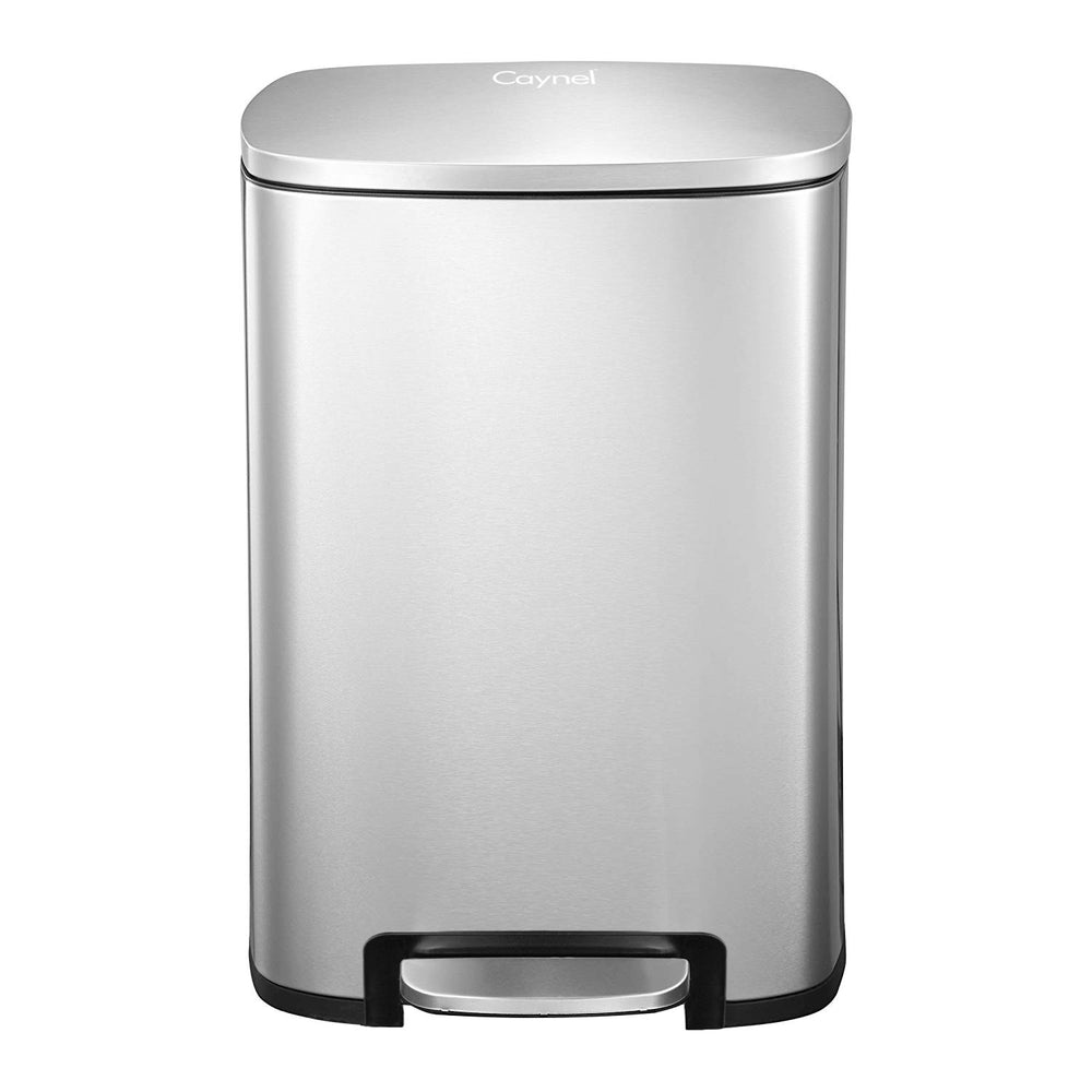 50 Liter / 13 Gallon Stainless Steel Step Trash Can