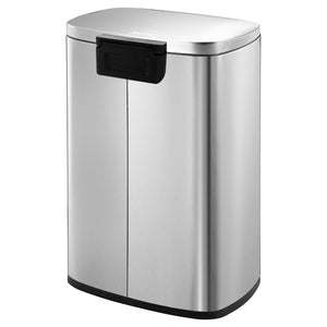 50 Liter / 13 Gallon Stainless Steel Step Trash Can - Caynel Direct