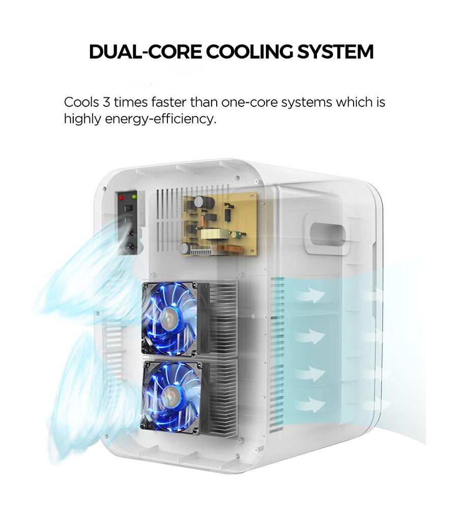 Mini Fridge Cooler and Warmer 20-liter (Dual-Core Cooling System) - Caynel Direct