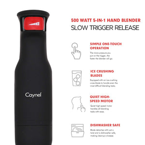 5-in-1 Trigger Immersion Blender - Caynel Direct