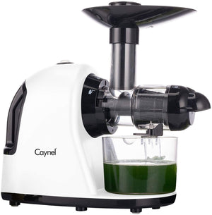 Caynel Slow Masticating Juicer with Quiet Motor, Slow Speed Juice Machine for High Nutrient Juice, Easy to Clean, With Safe Lock, Safe Chute, Reserve Function, Perfect for Wheatgrass - Caynel Direct