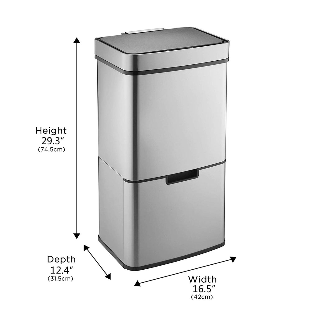 Pro Recycling Sensor Trash Can 16.3 Gallon - Caynel Direct
