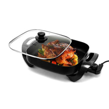 "Load image into Gallery viewer, Nonstick Electric Skillet 12""X12"" (Black) - Caynel Direct"