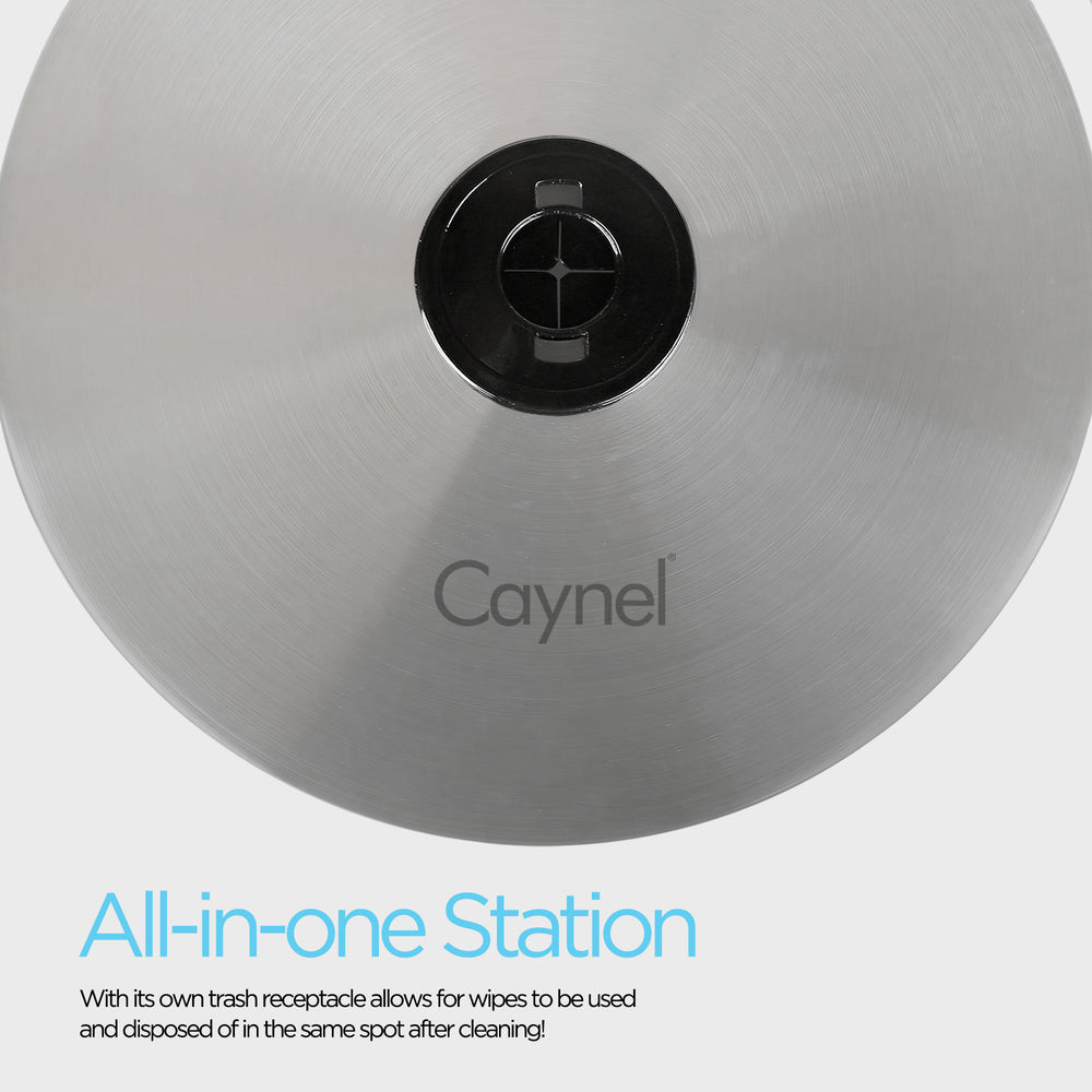 Caynel Floor Standing Wipe Trash Receptacle Dispenser - Caynel Direct