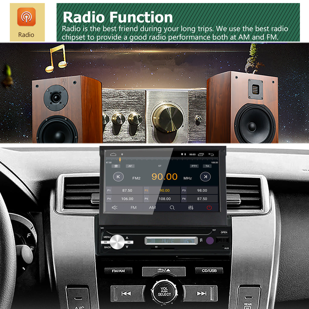 Android 8 1 Single Din Car Stereo 7