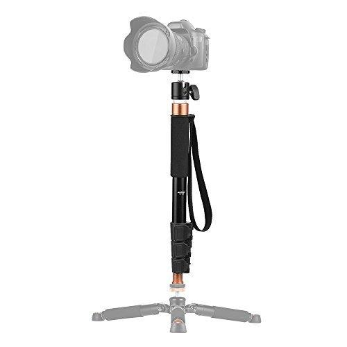 "Andoer TP-148 4-Section Aluminum Monopod with Camera Ballhead 360"" for Canon Nikon Sony DV Digital Cameras, Boom Pole for Microphone"