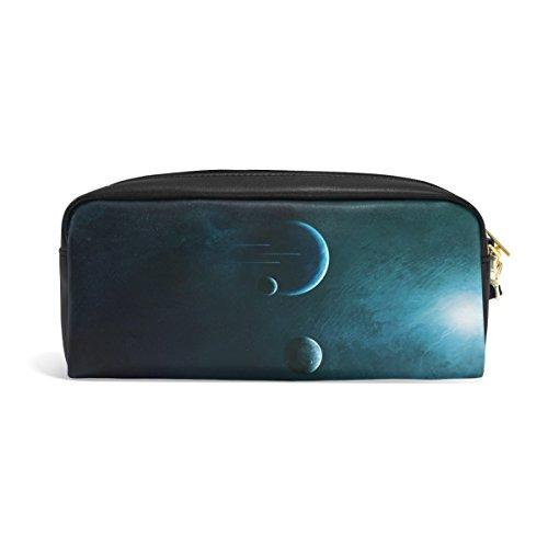 vipsk students black large capacity high grade pu leather pencil case you buy i ship