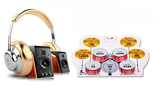 Aobiny Portable PC Desktop Digital Electronic Roll Up Drum Pads Drumstick Kit