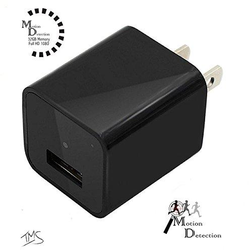 Hidden Camera Charger by Seekit Cam | 1080p 32GB Spy Camera / USB Charger featuring Motion Detection operating system | Records up to 8 Hours of video