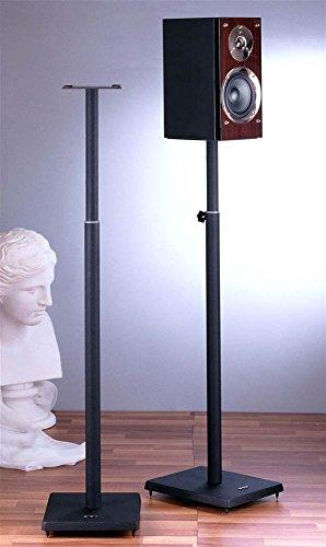 Surround Sound Speaker Stand in Black - Set of 2