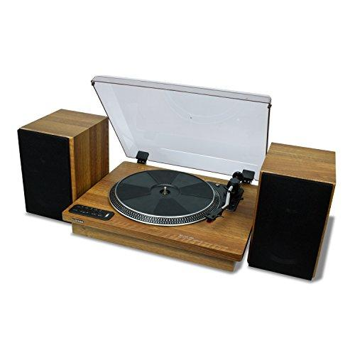 "Toshiba Vinyl Record Player Turntable: 12"" 3-Speed Bluetooth Turntables - Stereo Shelf Speakers, Encoder"