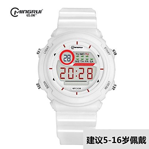 [child] Digital watches,Waterproof [lovely] Multifunction Digital watch Luminous Alarm clock Students watch Pin buckle strap-H