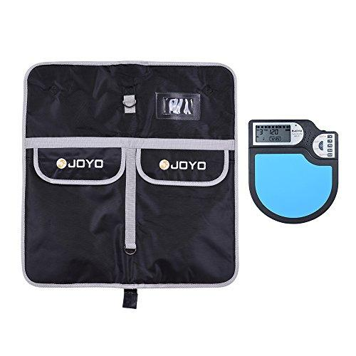 JOYO JMD-05 Portable Digital Electronic Practice Drum Pad with Metronome Counting Clock Timer Function LCD Display + JOYO Drum Stick Drumsticks Mallet Bag Case