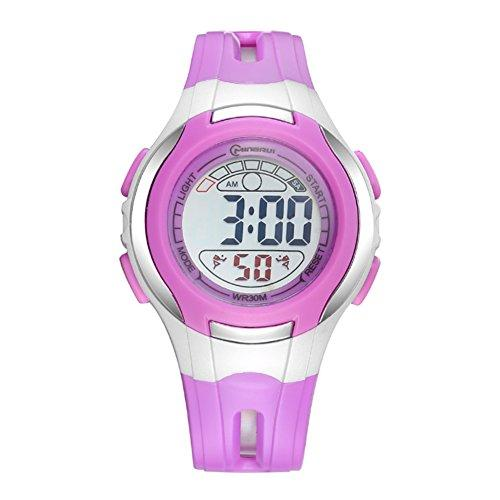 [child] Digital watches,Waterproof Luminous [lovely] Alarm clock Watch Boy Girl watches Pin buckle strap-D