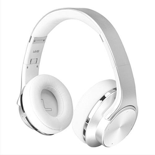 2 in 1 Bluetooth Headphones & Speaker, Sodolife Over-Ear Wired/Wireless Headsets Foldable with Comfortable Protein Earpads with Mic , FM radio Support TF card and AUX play (Silver)