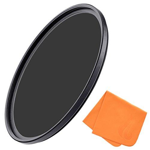 52mm 10-Stop ND Filter for Camera Lenses - Optical Glass Neutral Density Lens Filter for Outdoor & Professional Photography, Ultra-Slim, Nanotech Coating, MRC8, Weather Sealed by Fire Filters
