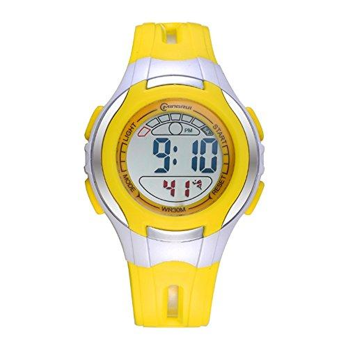 [child] Digital watches,Waterproof Luminous [lovely] Alarm clock Watch Boy Girl watches Pin buckle strap-H