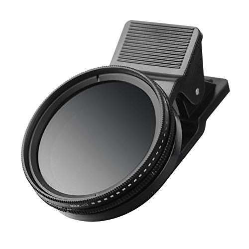 ZOMEi Universal Adjustable Neutral Density Filter Lens/ Clip-on ND 2-400 Filter Camera Phone Lens Kit