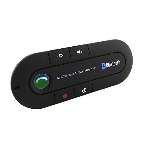 Connect Portable Multipoint HandsFree Bluetooth Sun Visor In-Car Speaker Cell Phone car stereo speaker with Noise Cancellation Bluetooth 4.1V Caller ID feature for Safety Driving - Black