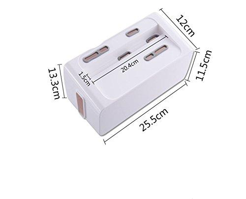 Cable Management Box Organizer Decorative Conceal Surge Protectors, Cell Phone Chargers, Power Strips, USB Hubs, HDMI Cords for Desks, and Computer Workstations (Gary & White)