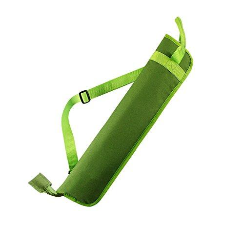 EaseIcon Weather Resistant Fabric Drumstick Case Cover Drum Stick Bag with Shoulder Strap - Green