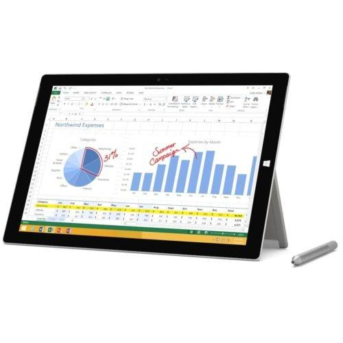 Newest Microsoft Surface Pro 3 12 inch Touchscreen Tablet | Intel Core i3-4020Y | 4GB RAM | 64GB SSD | WIFI | Bluetooth | Windows 10 Pro | Included Surface Pen (Silver)