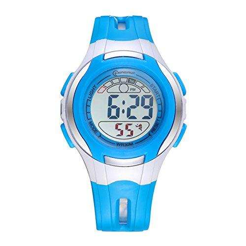 [child] Digital watches,Waterproof Luminous [lovely] Alarm clock Watch Boy Girl watches Pin buckle strap-E