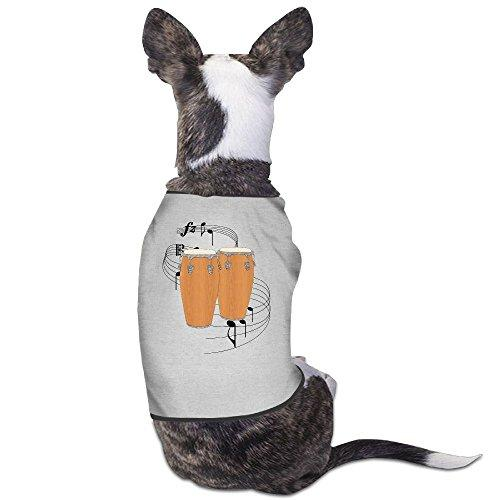 Skkoka Fashion Sleeveless Pet Supplies Dog Cat Clothes Conga Drums Pet Apparel Clothing S Gray