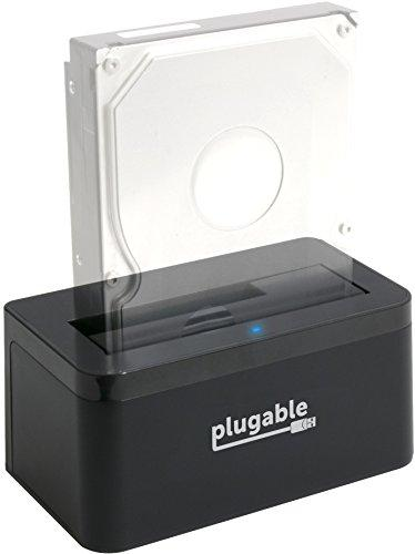 Plugable USB 3.1 Gen 2 10Gbps SATA Upright Hard Drive Dock and SSD Dock (includes both USB-C and USB 3.0 cables, supports 10TB+ drives)