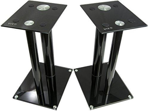 VIVO Premium Universal Floor Speaker Stands Dual Pillar for Surround Sound & Book Shelf Speakers (STAND-SP01B)