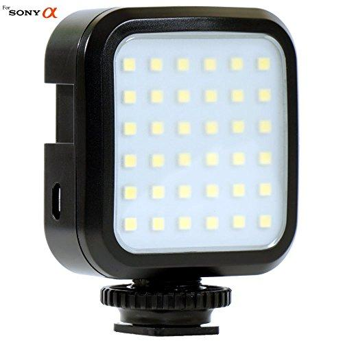 Powerful 36 LED Array Shoe Mount Adjustable LED Video Light for Sony Alpha ILCE-3500K, ILCE-5000L, ILCE-5100L, ILCE-6000L, ILCE-6300, ILCE7, ILCE7R, ILCE7RM2, ILCE7S Digital Cameras: LED Light Panel
