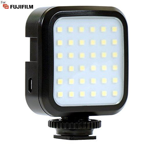 Powerful 36 LED Array Shoe Mount Adjustable LED Video Light for Fujifilm DS-260HD, DS-300, MX-2900 Zoom, X10, X100S, X100T, X20, X30, X70, X-A1, X-A2 Pro Digital Cameras: Stackable LED Light Panel
