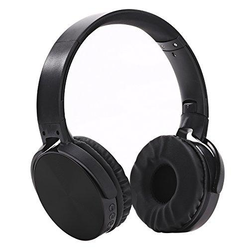 Wireless Headphones,Bluetooth Headset Over Ear Headphones with Mic Running Gaming Sports Earphones Phone/PC plug-in stereo (Black)