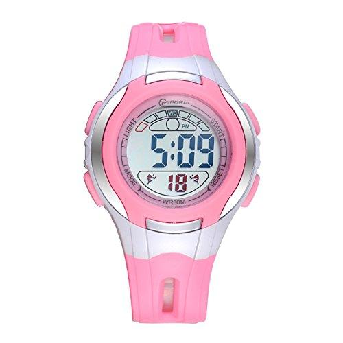 [child] Digital watches,Waterproof Luminous [lovely] Alarm clock Watch Boy Girl watches Pin buckle strap-B
