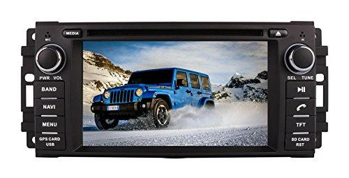 XTTEK 6.2 inch Touch Screen in dash Car GPS Navigation System for Jeep Wrangler 2007-2017 Commander 2006-2010 Compass 2009-2017 Grand Cherokee 2008-2010 DVD Player+ Backup Camera+Free Map