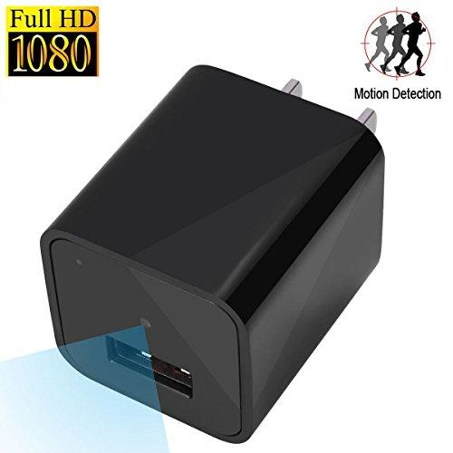 Hidden Camera Charger Adapter SoCoBuy 1080P 16GB USB Wall Charger Spy Camera with Motion Detector For Home Security Camera