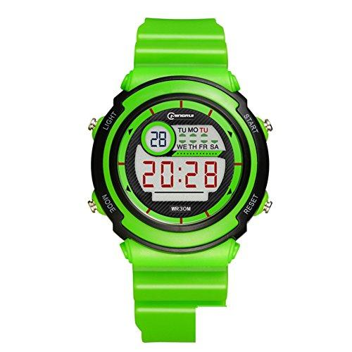 [child] Digital watches,Waterproof [lovely] Multifunction Digital watch Luminous Alarm clock Students watch Pin buckle strap-G