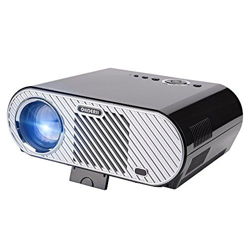 Ohderii Projector, 3200ANSI Luminous Efficiency Multimedia Home Theater Projectors 1280 800 Native Resolution Support 1080P HD-ideal for Outdoor Indoor Movie Night Projector