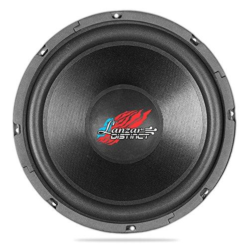 Lanzar 10in Car Subwoofer SVC - IB Open Air Audio Stereo Speaker, 4 Ohm Impedance, Steel Basket, 240 Watt Power, Non-Pressed Paper Cone and Foam Surround for Vehicle Sound System - DCTOA104