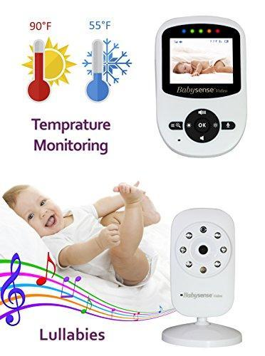 Babysense Video Baby Monitor with Two Digital Cameras, LCD Display, Infrared Night Vision, Two Way Talk Back, Temperature Monitoring, Lullabies, Long Range