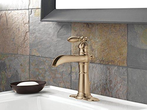 delta 554lf cz victorian single handle waterfall bathroom faucet with you buy i ship
