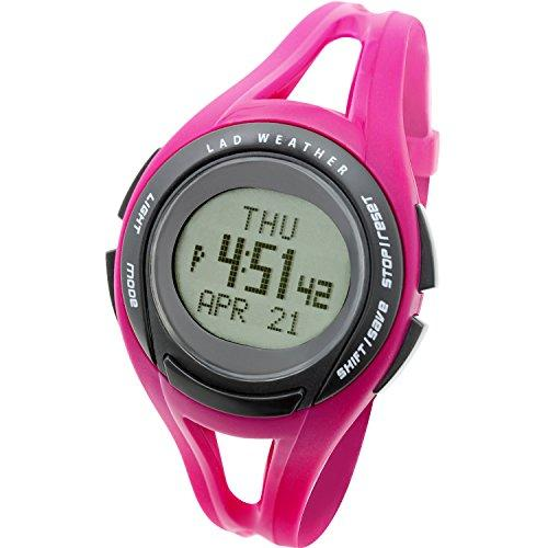 [LAD WEATHER] Running watch average/minimum/target speed/distance/100 laps/ calorie/ Chronograph Luminous Stopwatch Alarm Wrist watches