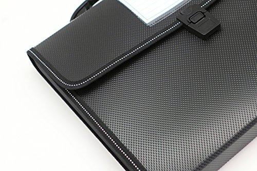 Cypress Lane Expanding File Folders with Handle Letter Size Black 13 Pockets