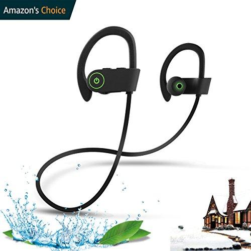 Wireless Headphones,ROTUYES Bluetooth Headphones Headsets IPX7 Waterproof HD Stereo Sweatproof Earphone for Gym Running Workout 8 Hours Battery Noise Cancelling Headsets for IPhone X 8 8P X