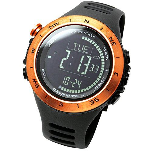 [LAD WEATHER] Swiss sensor Altimeter Barometer Digital Compass Weather Forecast Thermometer Step data Multifunctional Watches