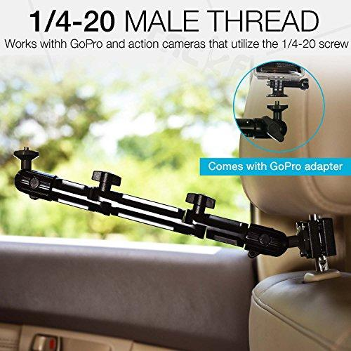 Headrest Mount for GoPro, Tackform DrivePro Best Car Mount for GoPro for  Recording Racing Video [SUPER RIGID DESIGN] No Shake, No Rattle, Works with